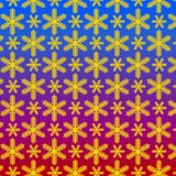 Pattern from snowflake without seam stock illustration