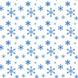 Pattern from snowflake without seam vector illustration
