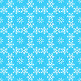 Pattern from snowflake Royalty Free Stock Photos