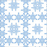 Pattern from snowflake Stock Image