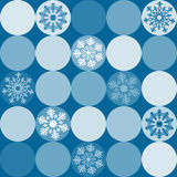 Pattern from snowflake. Vector illustration Royalty Free Stock Photography