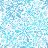 Pattern from snowflake. Vector illustration Stock Photo