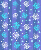 Pattern with snowflakes Stock Photography