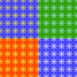 Pattern Snowflakes color. Set Abstract pattern Royalty Free Stock Image