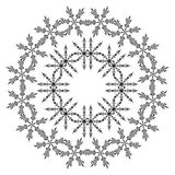 Pattern of snowflakes, contours Stock Photography