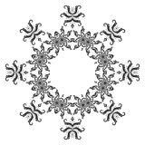 Pattern of snowflakes, contours Stock Photos