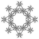 Pattern of snowflakes, contours Stock Photos