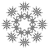 Pattern of snowflakes, contours Royalty Free Stock Photos