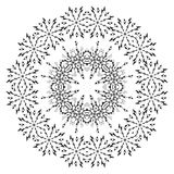 Pattern of snowflakes, contours Royalty Free Stock Images