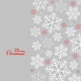 Pattern with snowflakes with Merry Christmas text Winter background for New Year and Christmas vector illustration