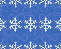 Pattern with snowflakes in row Stock Photography