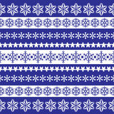 Pattern with snowflakes Stock Photos