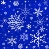 Pattern with snowflakes Stock Photo