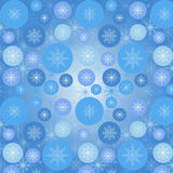 Pattern with snowflakes. Seamless pattern with snowflakes and circles Royalty Free Stock Images