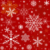 Pattern with snowflakes Royalty Free Stock Photography