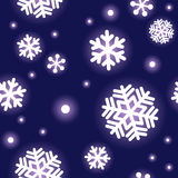 Pattern of snowflakes. Seamless pattern of snowflakes with simple touch royalty free illustration