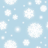 Pattern of snowflakes. Seamless pattern of snowflakes with simple touch stock illustration