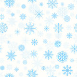 Pattern with snowflakes Stock Image