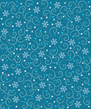 Pattern with snowflakes. Stock Photography