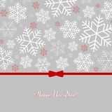 Pattern with snowflakes with text Happy New Year Winter background for New Year and Christmas. Holiday Pattern for greeting card posters wallpaper covers stock illustration