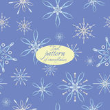 Pattern with snowflakes from tools Royalty Free Stock Photos