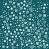 Pattern with snowflakes. Vector seamless pattern with snowflakes. Aquamarine background. Vector illustration Festive Christmas and New Year seamless snowflakes Royalty Free Stock Image
