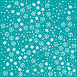 Pattern with snowflakes. Vector seamless pattern with snowflakes. Light blue background. Vector illustration Festive Christmas and New Year seamless snowflakes Stock Photography