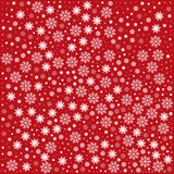 Pattern with snowflakes Royalty Free Stock Image