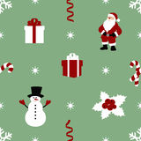 Pattern with snowman Royalty Free Stock Photos