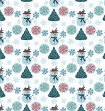 Pattern snowman seamless Stock Photography