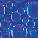 Pattern with soap bubbles Stock Image