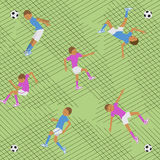 Pattern soccer match Stock Images