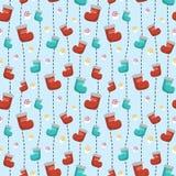 Pattern socks. Seamless,vector illustration Stock Images
