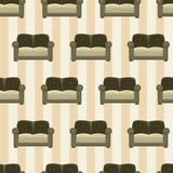 Pattern with sofas Stock Photos