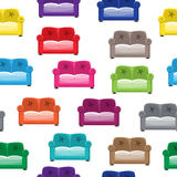 Pattern with sofas Stock Images