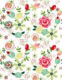 Pattern soft flowers for design Royalty Free Stock Photo