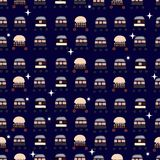 Pattern of space flying objects royalty free illustration