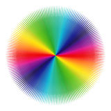 Pattern with spectrum colors over white Stock Image