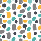 Pattern of the speech bubble. Seamless pattern of the speech bubble. It contains several different colors, shapes and sizes. Speech bubbles yellow, gray and blue Stock Image