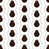 Pattern with spiders Stock Images