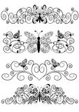 Pattern from spirals butterfly Royalty Free Stock Photos