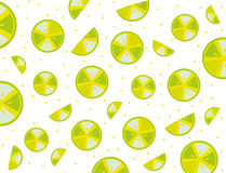 Pattern splash slices ​​lemons Royalty Free Stock Photo
