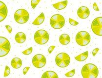 Pattern splash slices lemons Royalty Free Stock Photo