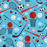 Pattern of sporting goods Royalty Free Stock Photos