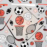Pattern of sporting goods Stock Photos