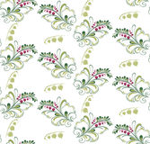 Pattern with sprigs of currants Royalty Free Stock Photography