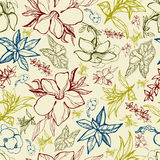 Pattern with spring flowers Royalty Free Stock Images