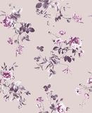 Pattern of spring flowers and branches Royalty Free Stock Photos