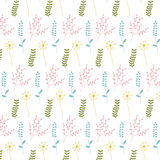 Pattern with spring flowers Royalty Free Stock Photos