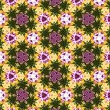 Pattern spring flowers Kaleidoscope Pattern for background or textil. Pattern flowers Kaleidoscope Pattern for background or textil Stock Photo